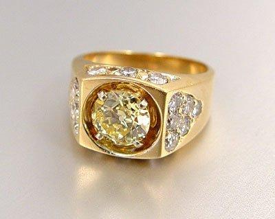 21: FANCY YELLOW 1.96 CT DIAMOND 3.22 CTW 14K RING