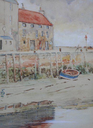 23: EXHIBITED JOHN DICK ST ANDREWS HARBOUR PAINTING