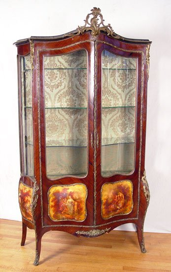 9:  FRENCH VERNIS MARTIN STYLE DISPLAY CABINET