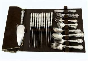 69 PC WOOD HUGHES AND GORHAM STERLING FLATWARE