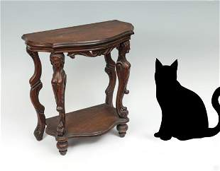FIGURAL CARVED HALL TABLE
