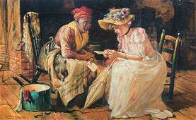 HARRY ROSELAND SOUTHERN GENRE PAINTING