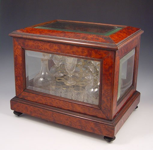 1003: FINE 19TH CENTURY TANTALUS CASE WITH DECANTERS