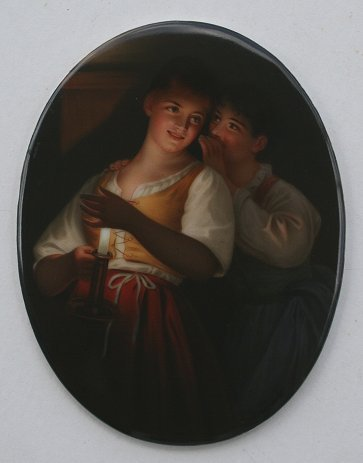 1007: HUTSCHENREUTHER PAINTING ON PORCELAIN WAGNER