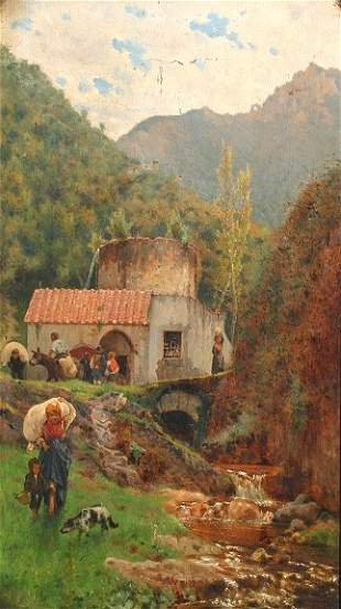 A. CAMPRIANI ITALIAN 19TH CENTURY PAINTING