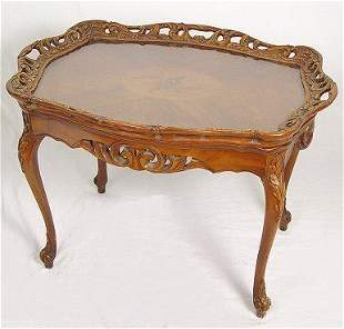 1920'S FRENCH STYLE TRAY TOP TEA TABLE MARQUETRY I