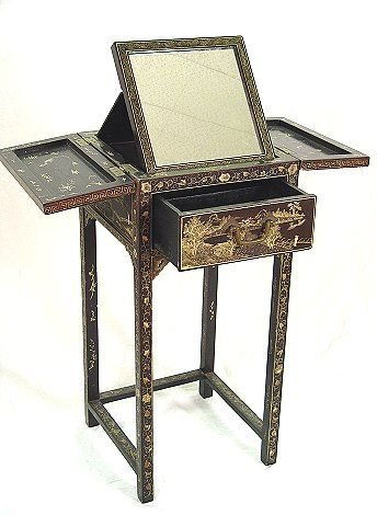 221: EARLY CHINOISERIE or JAPANNED DRESSING STAND