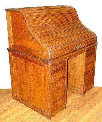 75a Cutler Golden Oak Roll Top Desk