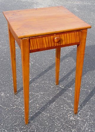 20A: 1 DRAWER FLAME GRAIN TABLE