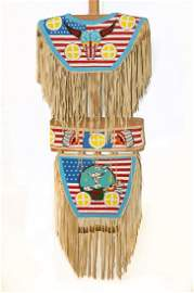 BLACKFEET INDIAN BEADED CEREMONIAL DANCE OUTFIT