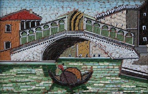 12: MICRO MOSAIC VENETIAN CANAL SCENE