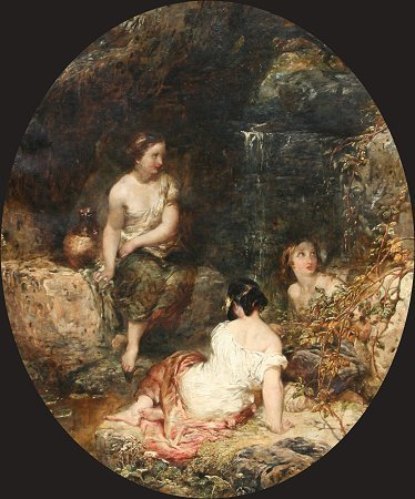 22: A.J. WOOLMER THE LADIES VALLEY OIL/CANVAS PAINTING