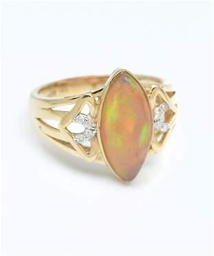 14K OPAL DIAMOND RING BY ORIANNE