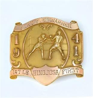 1941 MILITARY BOXING WELTERWEIGHT CHAMP BELT BUCKL