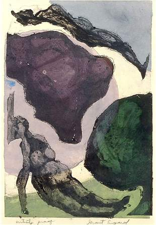 GRANT ENGARD ARTIST PROOF ETCHING AND AQUATINT
