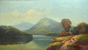 LARGE HUDSON RIVER SCHOOL STYLE PAINTING