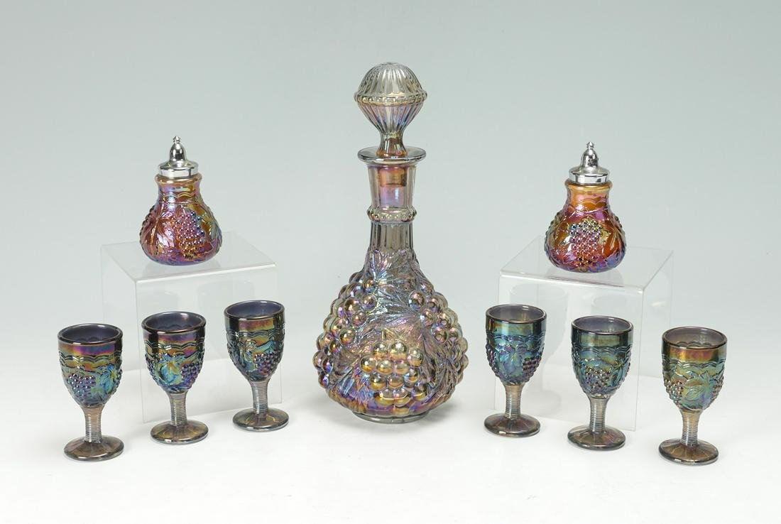 9 PC. IMPERIAL CARNIVAL GLASS SET