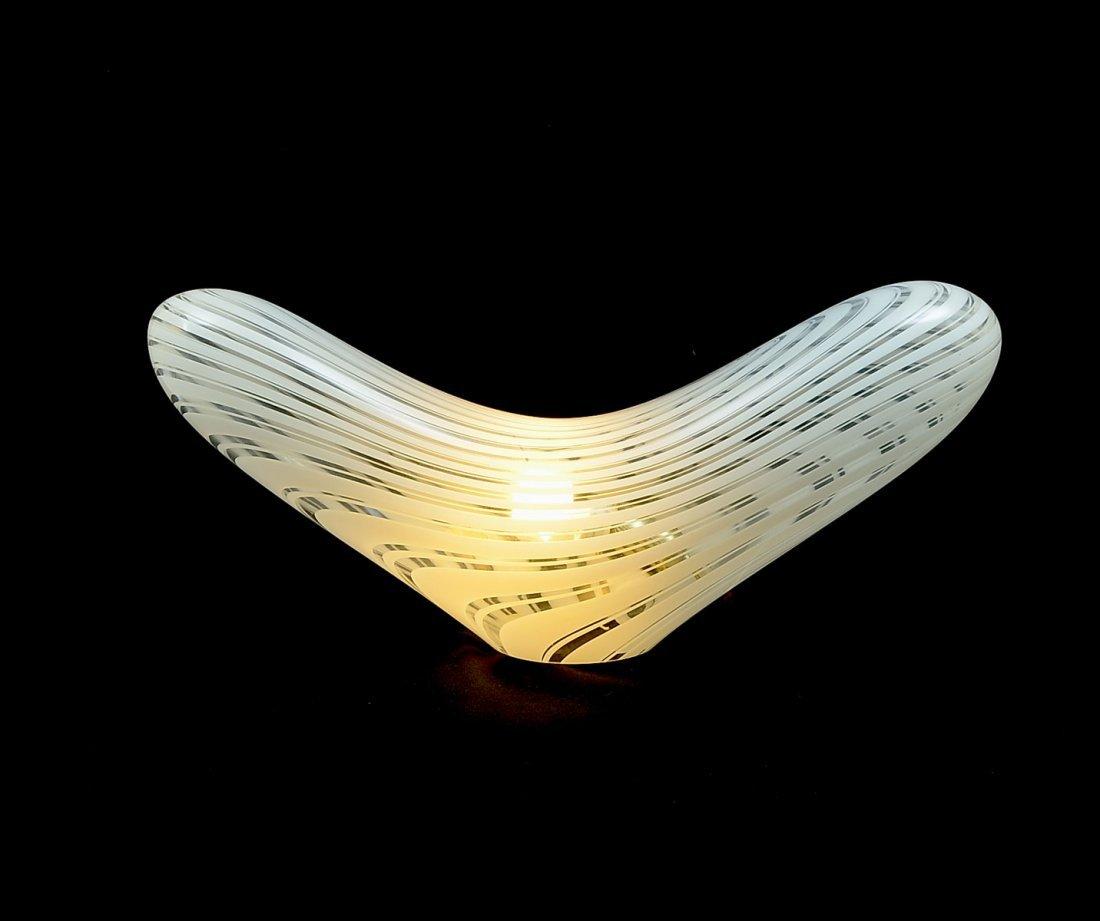 MID-CENTURY MODERN VERTI MURANO ART GLASS PILLOW LAMP