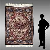 MODERN INDO-PERSIAN HK WOOL RUG, 5' x 6' 6''