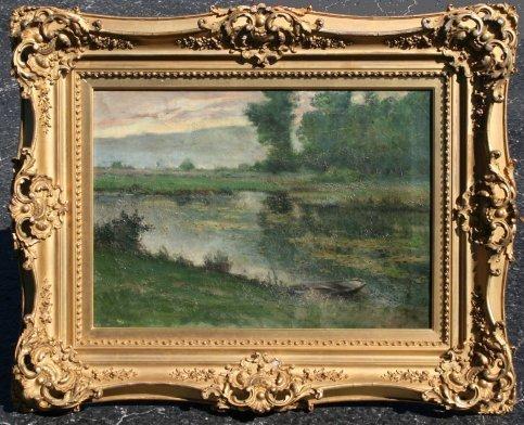 1018: E. H. CAUCHOIS LANDSCAPE PAINTING LISTED ARTIST