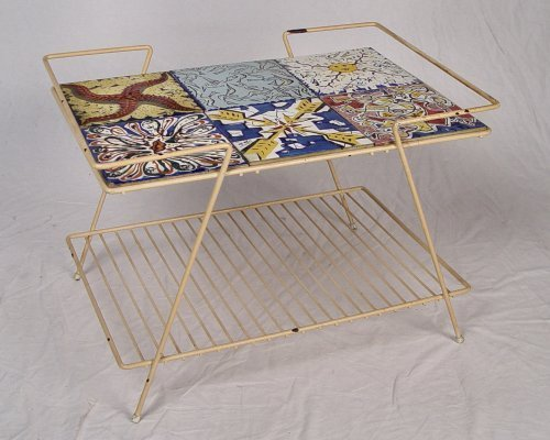 1059: 6 DALI TILES FOR MAURICE DUCHIN IN IRON TABLE