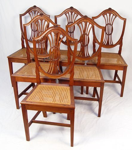 1013: SET OF 6 FRENCH SIDE CHAIRS  CA. 1800'S