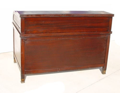 "1169: LARGE MAHOGANY ""C"" ROLL TOP CLEMCO DESK - 5"