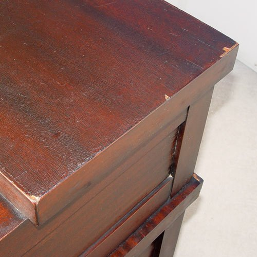 "1169: LARGE MAHOGANY ""C"" ROLL TOP CLEMCO DESK - 8"