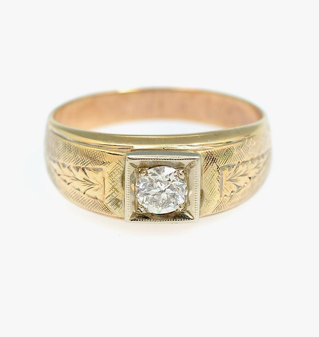 GENTS 14K DIAMOND RING