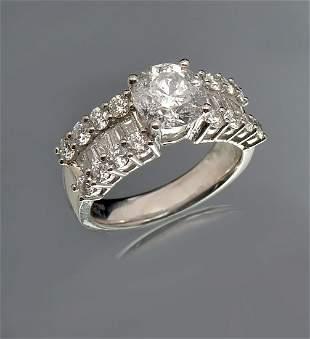 PLATINUM 362 CTW DIAMOND RING BY ORIANNE