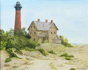 PAINTING OF OUTER BANKS LIGHTHOUSE FAMILY STORE