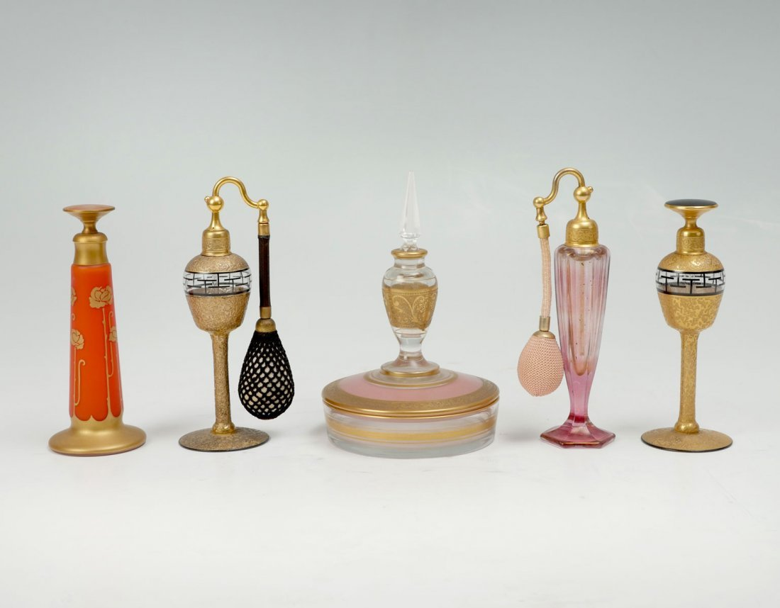 5 PC. DIVILBIS PERFUME BOTTLE COLLECTION
