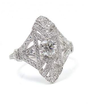 PLATINUM 104 CTW DIAMOND RING BY ORIANNE