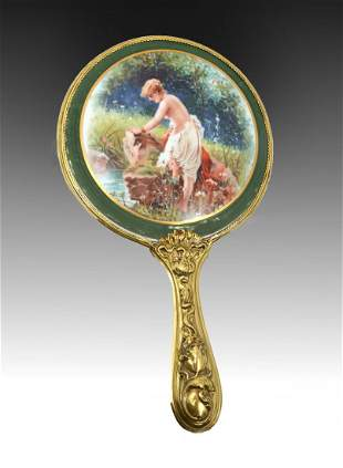 PAINTED PORCELAIN WITH MIRROR