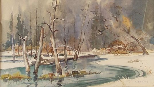 395: W. B. ROMELING WINTER FOREST PAINTING