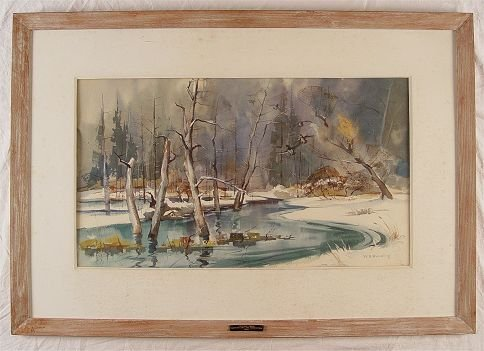 395: W. B. ROMELING WINTER FOREST PAINTING - 2