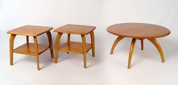 187: HEYWOOD WAKEFIELD END & COFFEE TABLE LAZY SUSAN