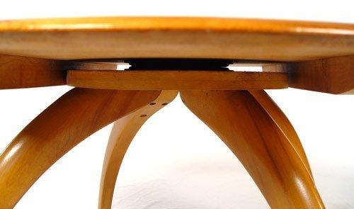187: HEYWOOD WAKEFIELD END & COFFEE TABLE LAZY SUSAN - 3