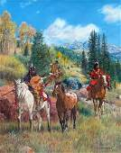 LARGE NATIVE AMERICAN WACKERMAN PAINTING