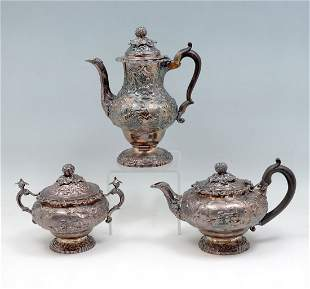 3 PC EARLY 19TH CENTURY ENGLISH STERLING SERVING SET