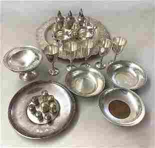 MISC STERLING 1 EMBOSSED SILVER PLATE TRAY