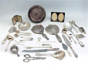 25 PC STERLING SILVER PLATE COLLECTION