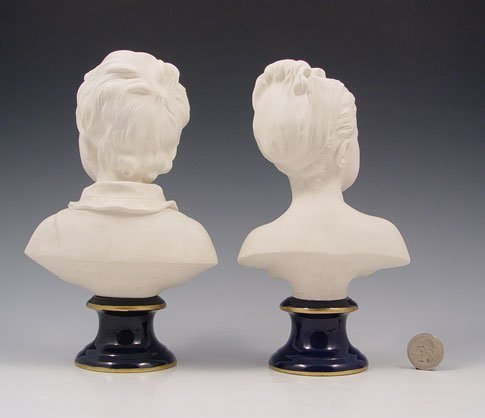 13: SEVRES BRONGNIART CHILDREN BUSTS AFTER HOUDON - 4