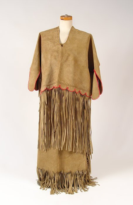 195: NATIVE AMERICAN HIDE WEDDING DRESS
