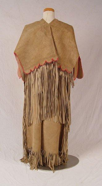195: NATIVE AMERICAN HIDE WEDDING DRESS - 3