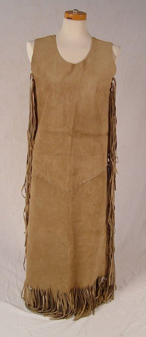 195: NATIVE AMERICAN HIDE WEDDING DRESS - 4
