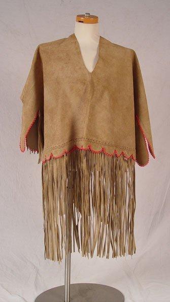 195: NATIVE AMERICAN HIDE WEDDING DRESS - 5