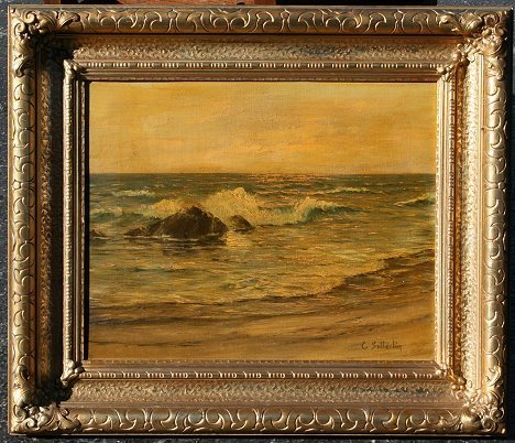 240: CHARLES SUTTERLIN SEASCAPE PAINTING
