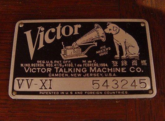 255: 1919 GOLDEN OAK VICTOR VICTROLA VV XI - 4