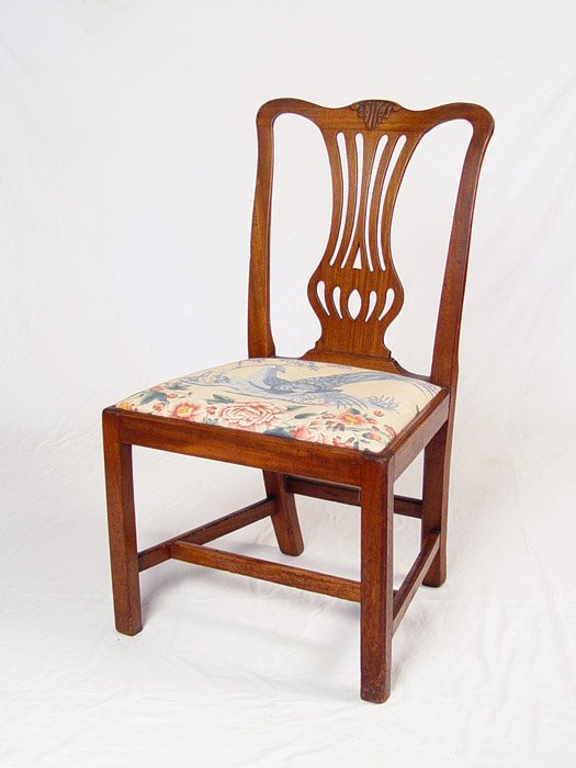12A: EARLY CHIPPENDALE STYLE SIDE CHAIR LATE 18TH C